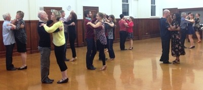 Ballroom beginners dancing a lesson