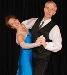 Caroline & Michael in Foxtrot pose